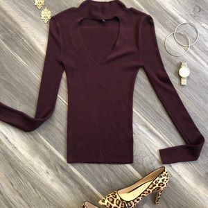 Express Mock Chocker Turtleneck